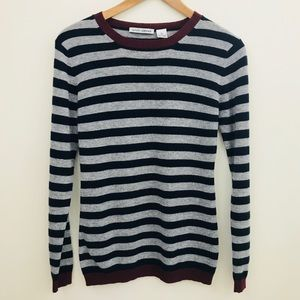 Autumn Cashmere Multi Stripe 100% Cashmere Sweater